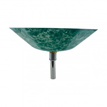 <PRE>Green Crystal Heptagon Bowl Tempered Glass Vessel Sink with Chrome Pop-Up Drain</PRE>zoom2