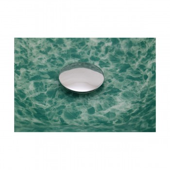 <PRE>Green Crystal Heptagon Bowl Tempered Glass Vessel Sink with Chrome Pop-Up Drain</PRE>zoom6