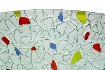 <PRE>Round Vessel Sink Tempered Glass Bowl Sink Mosaic Style </PRE>