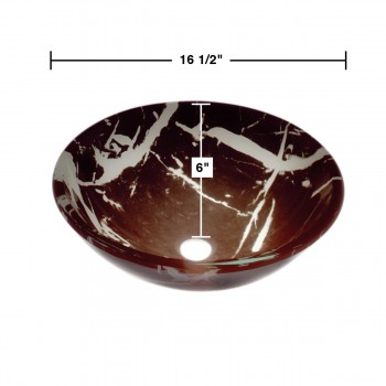 Glass Sinks - Black & White Granite 