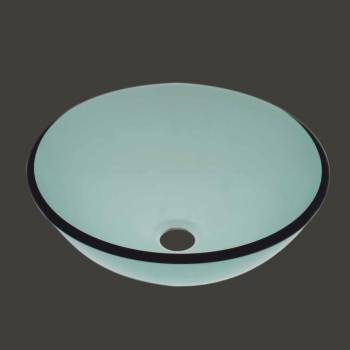 Vessel Sinks - Glass Vessel Sink Sweet Pea Green Round by the Renovator's Supply