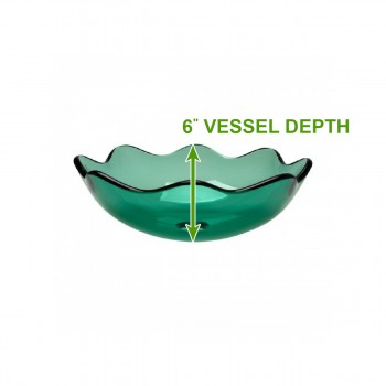 Vessel Sinks - Glass Vessel Sink Sweet Pea Green  8 Petal by the Renovator's Supply