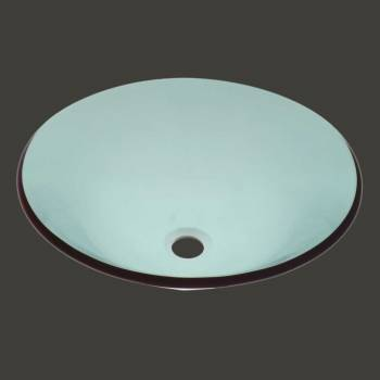 <PRE>Tempered Glass Vessel Sink with Drain, Hat Shape Green Bowl Sink </PRE>zoom2