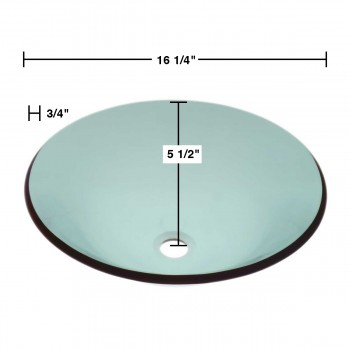 spec-<PRE>Tempered Glass Vessel Sink with Drain, Hat Shape Green Bowl Sink </PRE>