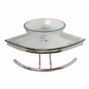Zephyr Glass Corner Sink Clear