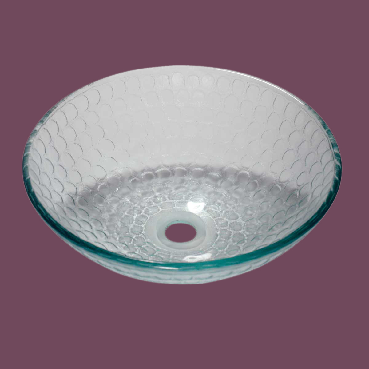 Tempered Glass Vessel Sink Frosted Green Bowl Sink