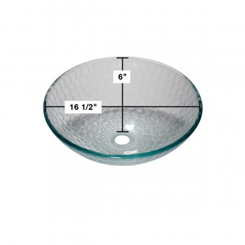 spec-<PRE>Tempered Glass Vessel Sink with Drain Frosted Green Bowl Sink </PRE>