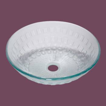 <PRE>Renovator's Supply Bathroom Tempered Clear Glass Vessel Sink Round Pop-Up Drain </PRE>zoom2