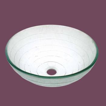 Glass Sinks - Circle - Frosted Green Glass Vessel Sink - Round by the Renovator's Supply