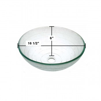 spec-<PRE>Tempered Glass Vessel Sink with Drain Frosted Green Bowl Sink Above Counter</PRE>