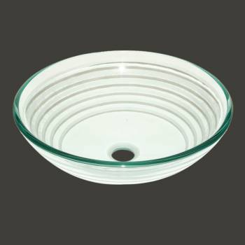 Glass Sinks - Trace - Textured Frosted 