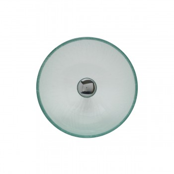 <PRE>Mini Tempered Glass Vessel Sink with Drain, Frosted Green Textured Bowl Sink</PRE>zoom3