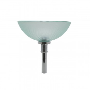 <PRE>Mini Tempered Glass Vessel Sink with Drain, Frosted Green Textured Bowl Sink</PRE>zoom5