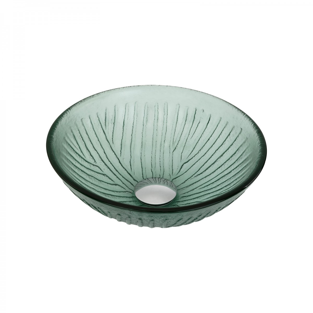 Glass Vessel Sink with Drain Frosted Green Tempered Glass Mini Bowl Sink. Vessel Sink with Drain Frosted Green Tempered Glass Mini Bowl Sink