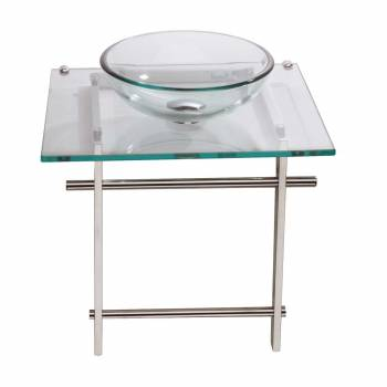 Children Bathroom Console Sink Glass Wall Mount 12902grid