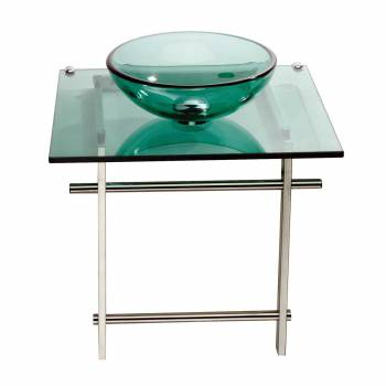 Children Bathroom Console Green Glass Sink Wall Mount 12903grid