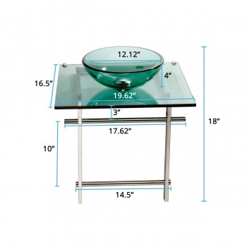 Glass Sinks - Children's Glass Console Sink Wash Station