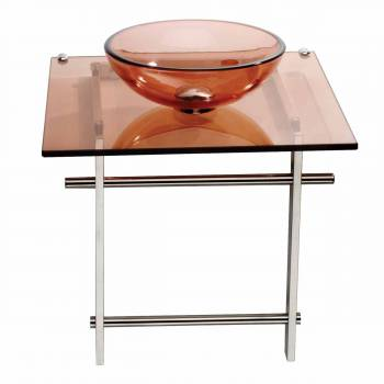 Children Bathroom Console Sink Amber Glass Vanity 12905grid