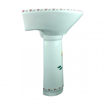<PRE>Children Pedestal Sink Painted China Chippy Mouse </PRE>zoom3