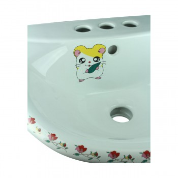<PRE>Children Pedestal Sink Painted China Chippy Mouse </PRE>zoom11
