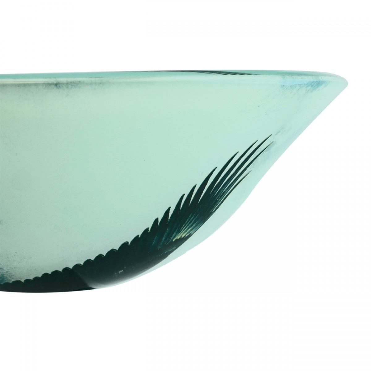 Eagle Tempered Glass Vessel Sink with Drain, Patriotic Double Layer Bowl Sink bathroom vessel sinks Countertop vessel sink Glass Bathroom Sink