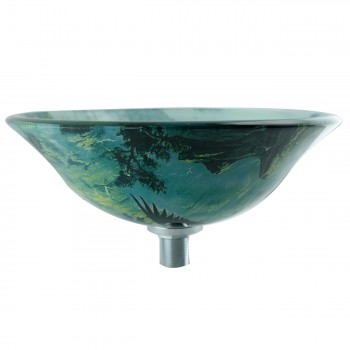 <PRE>Eagle Tempered Glass Vessel Sink with Drain, Patriotic Double Layer Bowl Sink</PRE>zoom3