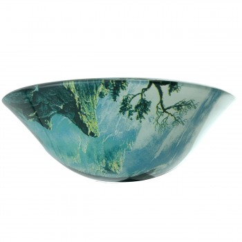 <PRE>Eagle Tempered Glass Vessel Sink with Drain, Patriotic Double Layer Bowl Sink</PRE>zoom6