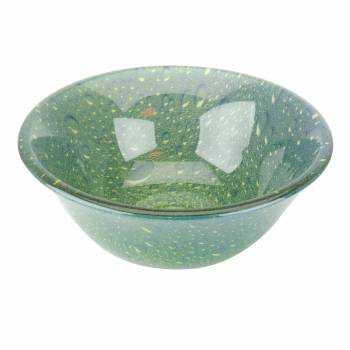 <PRE>Tempered Glass Vessel Sink with Drain, Green Double Layer Barrel Shape Sink </PRE>