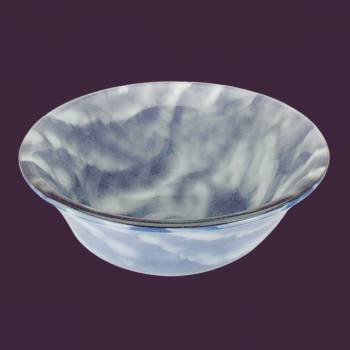 spec-<PRE>Tempered Glass Vessel Sink with Drain, Blue-White Clouds Barrel Shape Bowl Sink </PRE>