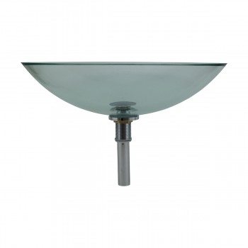 <PRE>Tempered Glass Vessel Sink with Drain, Green Tinted Single Layer Bowl Sink </PRE>zoom2