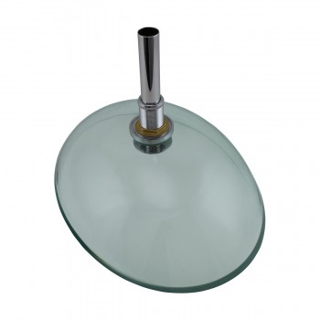 <PRE>Tempered Glass Vessel Sink with Drain, Green Tinted Single Layer Bowl Sink </PRE>zoom4