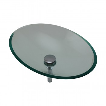 <PRE>Tempered Glass Vessel Sink with Drain, Green Tinted Single Layer Bowl Sink </PRE>zoom7