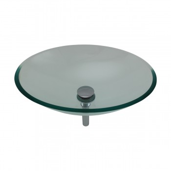 Tempered Glass Vessel Sink with Drain, Green Tinted Single Layer Bowl Sink 12957grid