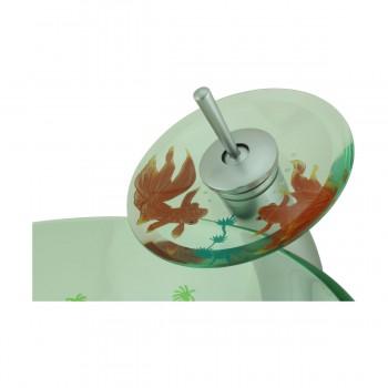 <PRE>Bathroom Glass Vessel Sink Koi Fish Waterfall Faucet Combo </PRE>zoom8