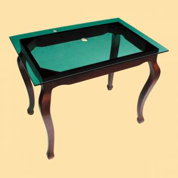 <PRE>Bathroom Vanity Green Glass Console Provincial Leg Wall Mount</PRE>zoom2