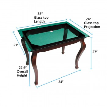 spec-<PRE>Bathroom Vanity Green Glass Console Provincial Leg Wall Mount</PRE>