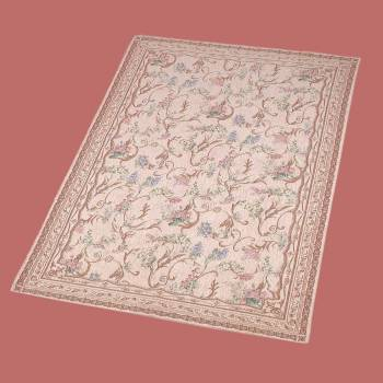 <PRE>Rectangular Area Rug 9' x 6' Red Chenile </PRE>
