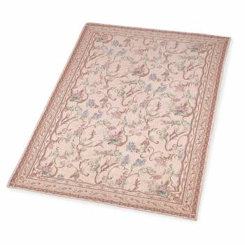 Rectangular Area Rug 9' x 6' Red Chenile 13018grid