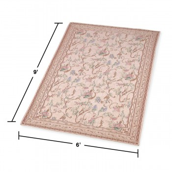 spec-<PRE>Rectangular Area Rug 9' x 6' Red Chenile </PRE>