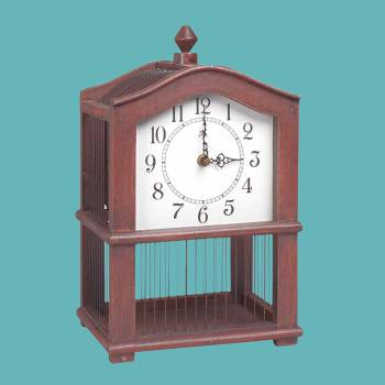 <PRE>Antique Wooden Victorian Birdcage Clock </PRE>zoom2