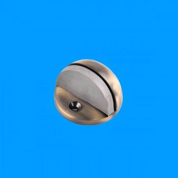 <PRE>Door Stop Antique Brass Eclipse Dark Floor Mount Bumper </PRE>zoom2