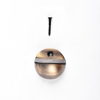 <PRE>Door Stop Antique Brass Eclipse Dark Floor Mount Bumper </PRE>zoom3