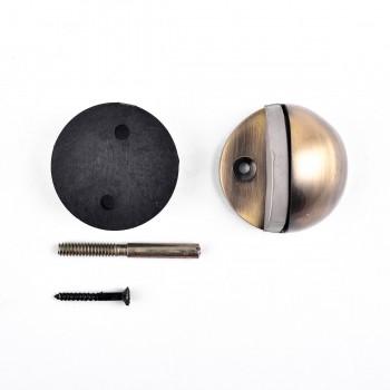<PRE>Door Stop Antique Brass Eclipse Dark Floor Mount Bumper </PRE>zoom4