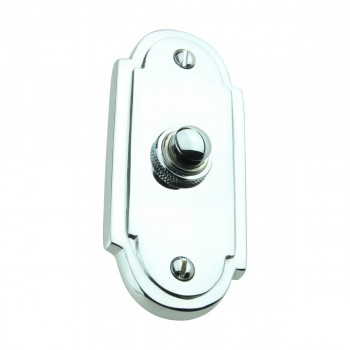 <PRE>Colonial Door Bell Chrome Push Button Plate 4inch H </PRE>zoom3