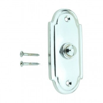 <PRE>Colonial Door Bell Chrome Push Button Plate 4inch H </PRE>zoom6