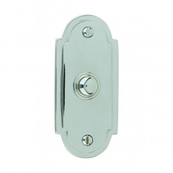 Colonial Door Bell Chrome Push Button Plate 4