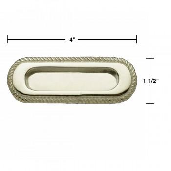 spec-<PRE>Georgian Rope Recessed Sash Lift Chrome Brass </PRE>