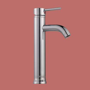 <PRE>Bathroom Faucet Single Hole Handle Chrome Solid Brass 12inch H </PRE>zoom2