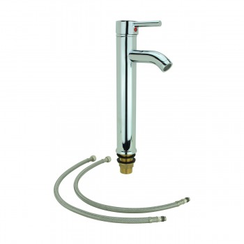 <PRE>Bathroom Faucet Single Hole Handle Chrome Solid Brass 12inch H </PRE>zoom5