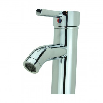 <PRE>Bathroom Faucet Single Hole Handle Chrome Solid Brass 12inch H </PRE>zoom10